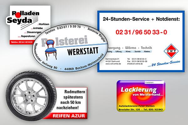 Individuelle Serviceaufkleber Mit Logo Günstig Drucken